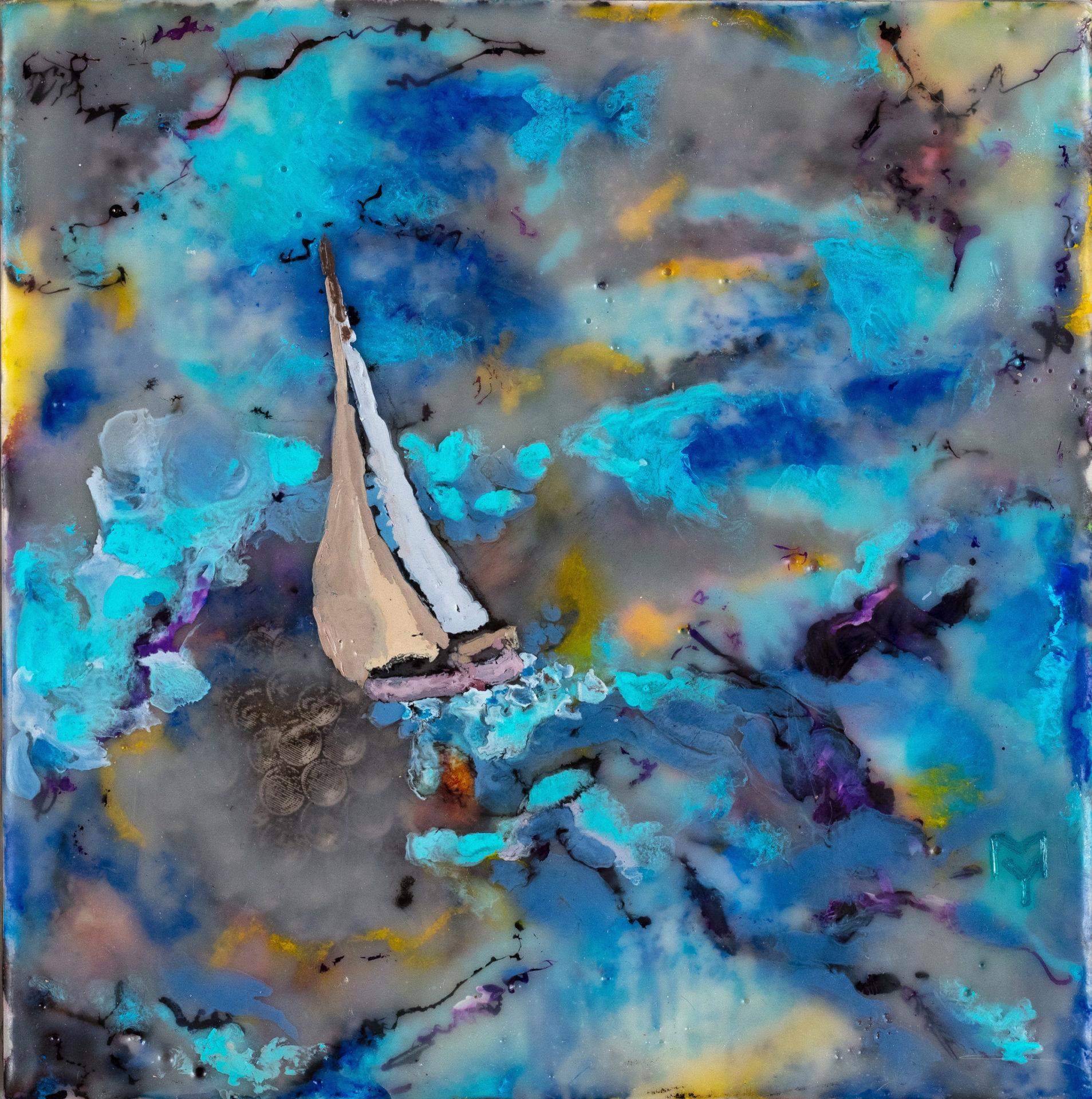 "YuliaMamontova, an artist ""Sea element"", 2019"