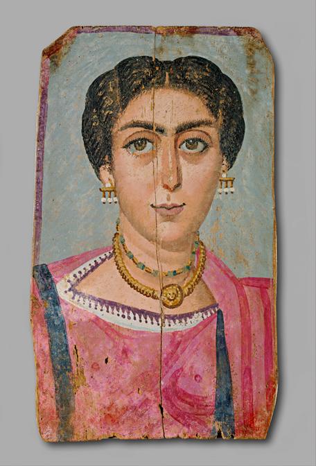 Женщина с ожерельем. Музей истории искусств, Вена - созданный между 161 и 192 годами неизвестным автором.